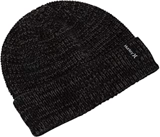 Hurley Men's Stretch Knit Cuffed Slouchy Winter Beanie
