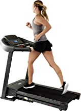 Sunny Health & Fitness T7643 Heavy Duty Walking Treadmill with 350 LB Max Weight, Tablet Holder, Shock Absorber, Wide Belt...