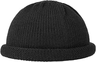 rolled up beanie hat