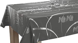 Le linge de Jules Nappe Shiny - Entretien Facile Gris foncé - Taille : Rectangle 150x300 cm