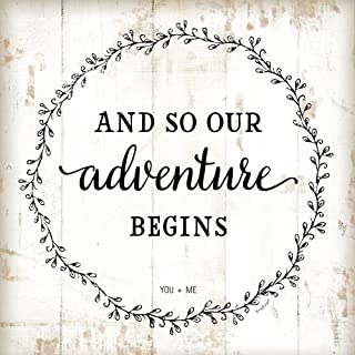 Posterazzi Collection and So Our Adventure Begins Poster Print by Jennifer Pugh (12 x 12)