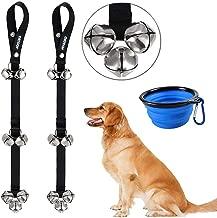 Dog Bells Dog Potty Bells Dog Doorbells for Dog Training Adjustable Door Bell for Puppy with Collapsible Travel Pet Cat Dog Bowl