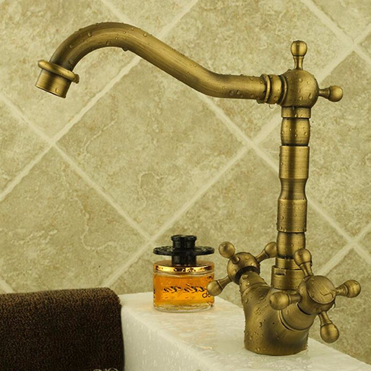 Faucet European Style Antique Antiquate Basin Hot Water Faucet