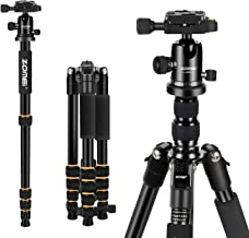 ZOMEi Q666 Tripod Magnesium Aluminum Alloy Light Weight Portable Camera Tripod 14.5inch Travel Folding Size with Ball Head and Carrying Case for Canon Nikon Sony Cameras