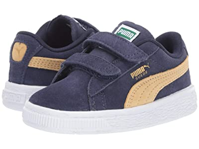 Puma Kids Suede Classic V (Toddler) (Peacoat/Taos Taupe) Boys Shoes