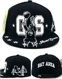 Golden State GS New Leader Curry MVP The Bay Area Skyline Bridge Shadow Black White Era Snapback Hat Cap