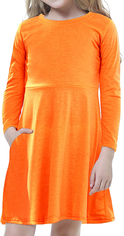Timeshow Atlanta Mall Girl's Long Sleeve Peter latest Swing C Pan Dress Collar