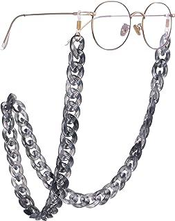 bc20880ed2 VASSAGO - Cordón de acrílico para Cuello de pestañas, Cadena de eslabones de  Color Gris