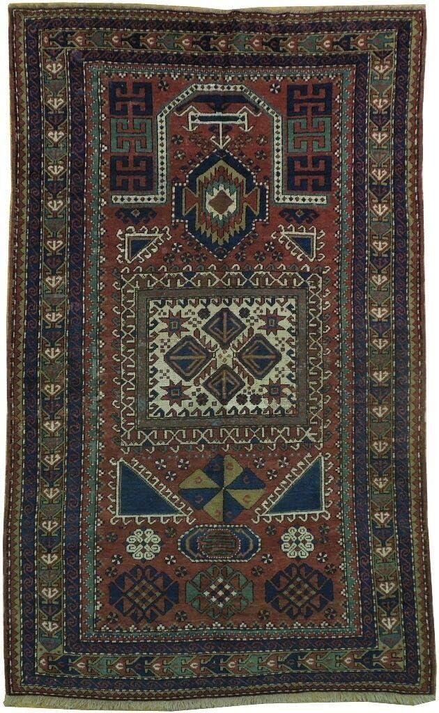 Antique Russian Kazak 4x7 Wool Handmade Cheap SALE Start Rug Award-winning store