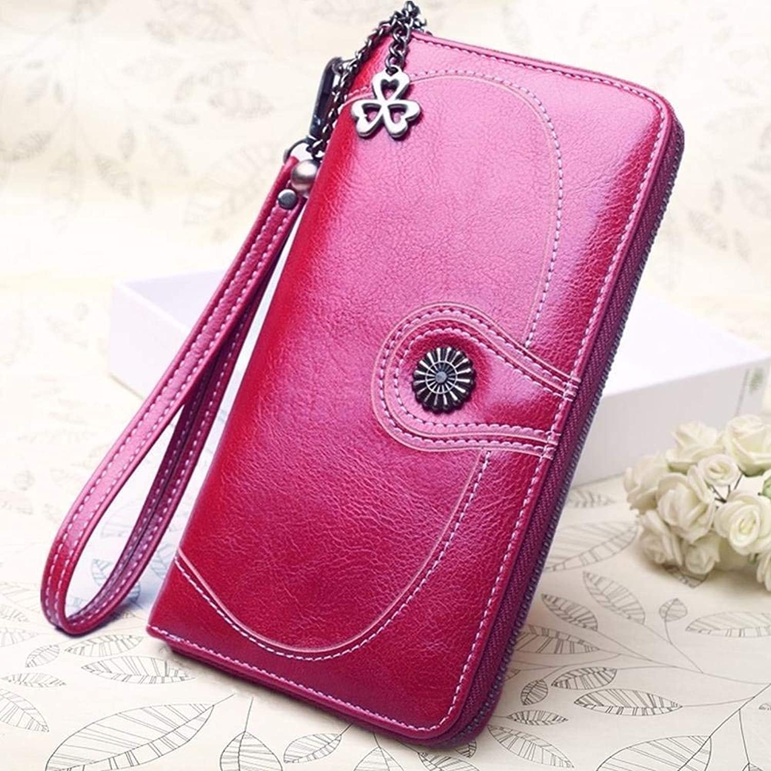 Girls Purse Ladies Wallet MultiFunction Card Pack Multiple colors Can Choose Size (19cmx10cmx3cm) (color   Purple)