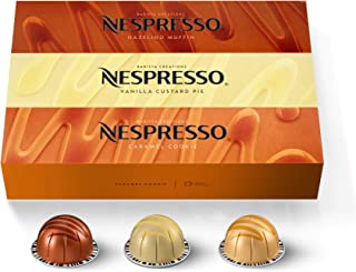 Nespresso Capsules VertuoLine, Barista Flavored Pack, Mild Roast Coffee, 30 Count Coffee Pods, Brews 7.8 Ounce