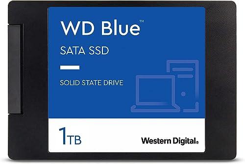 """WD Blue 3D NAND 1TB Internal PC SSD - SATA III 6 Gb/s, 2.5""""/7mm, Up to 560 MB/s - WDS100T2B0A"""