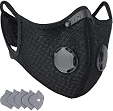 FACE GUARD Dust Breathing Mask, Anti Pollution, Activated Carbon, Dustproof Mask with a Carbon Filter, for Pollen Allergy,...