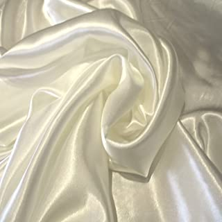 Off White 9 Charmuse Satin 100% Polyester 58 Inch Wide Order By the Yard JN00009
