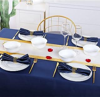 DUJUST 1ère Classe Bone-china Service de Table pour 4, Design de Luxe avec Garniture Dorée Artisanale, Ensembles d'assiett...