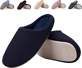 EASTSURE Men and Women Indoor Slippers Memory Foam House Shoes with Anti-Slip Sole