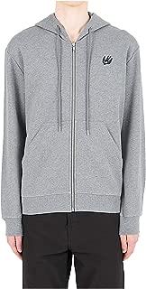 McQ Alexander McQueen Men Zip-up Sweatshirt Swallow Grigio