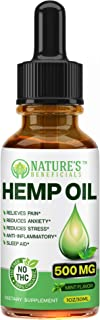 Organic Hemp Oil 500MG - Ultra Premium Pain Relief Anti-Inflammatory, Stress & Anxiety Relief, Joint Support, Sleep Aid, O...