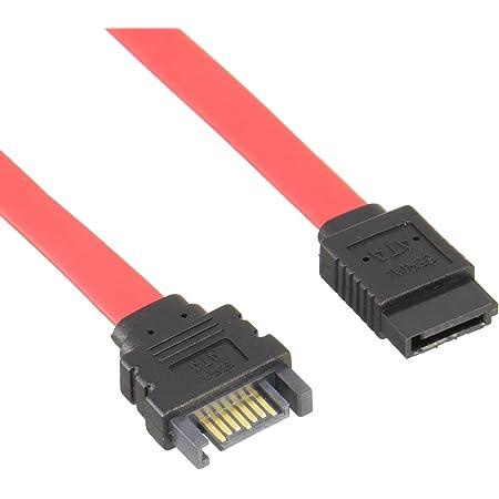 変換名人 SATA延長ケーブル 7ピン(オス) - 7ピン(メス) 30cm SATA-IECA30