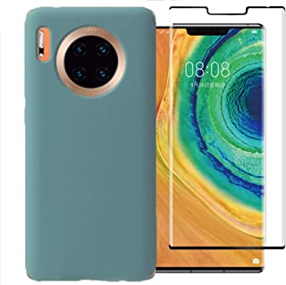 Easylifes Case for Huawei Mate 30 Pro Cover with Huawei Mate 30 Pro Tempered Glass Screen Protectors, Soft TPU Bumper Sili...