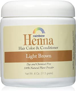 RAINBOW RESEARCH HENNA,PERSIAN LIGHT BROWN, 4 OZ Pack of 2