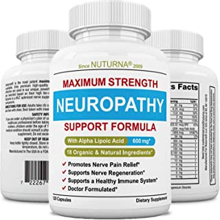 Neuropathy Support Supplement - Nerve Pain Support with 600 mg Alpha Lipoic Acid Daily Dose - Peripheral Ne...