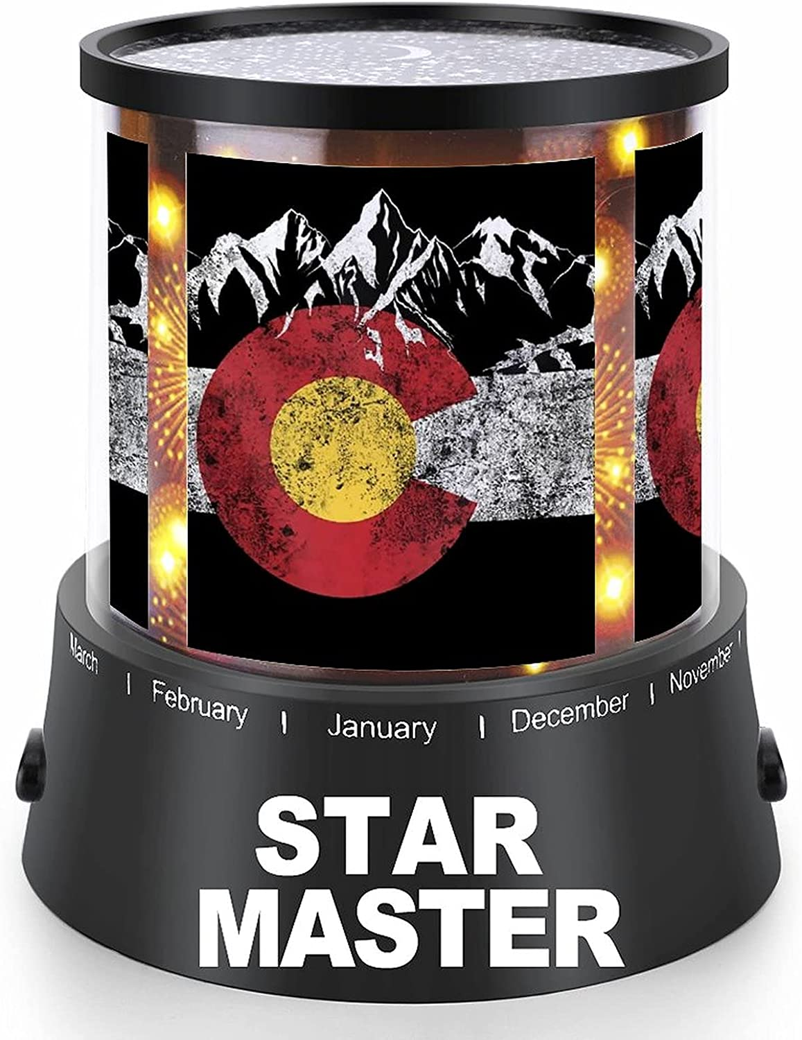 Vintage Mountain Colorado Flag Projection High quality new Night with Lamp Washington Mall Light