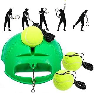 Fostoy Tennis Trainer, Tennis Trainer Set Trainer Baseboard with 3 Rebound Ball, Self-Study Practice Training Tool Tennis ...