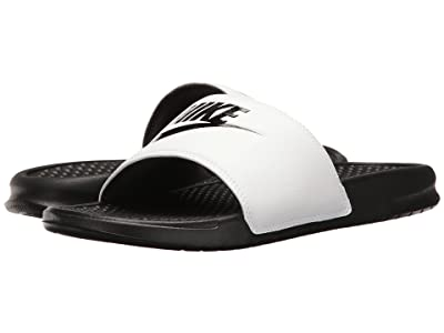 Nike Benassi JDI Slide (White/Black/Black) Men
