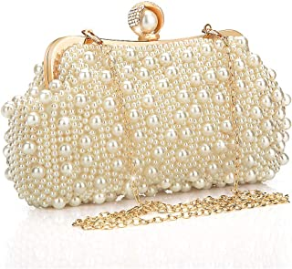 Women Clutches Evening Bags Pearl Bags Handbags for Wedding Party Date Clutch Purse