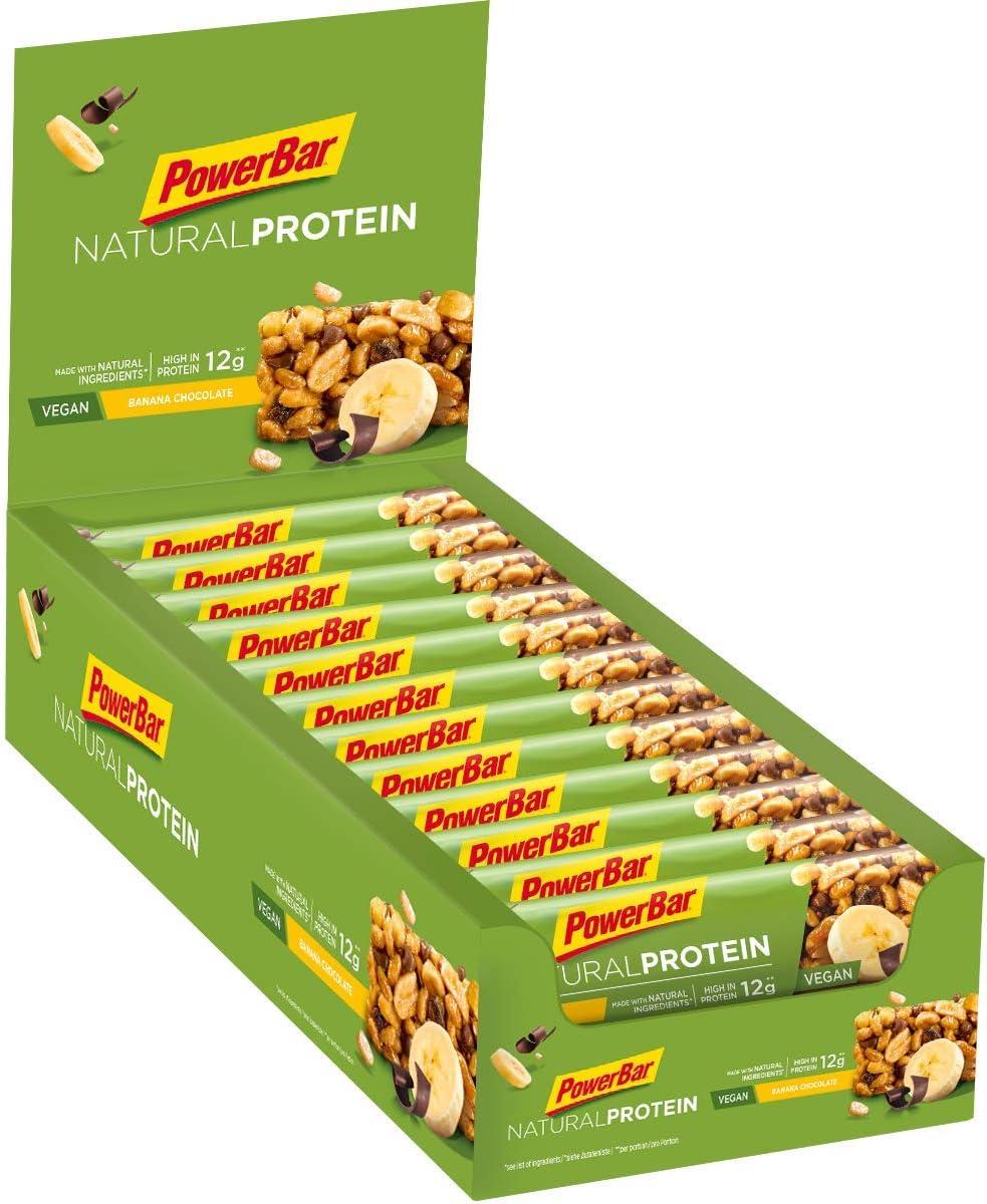 PowerBar Natural Protein Blueberry Nuts 24x40g - Barra de Proteína Vegana + Ingredientes Naturales