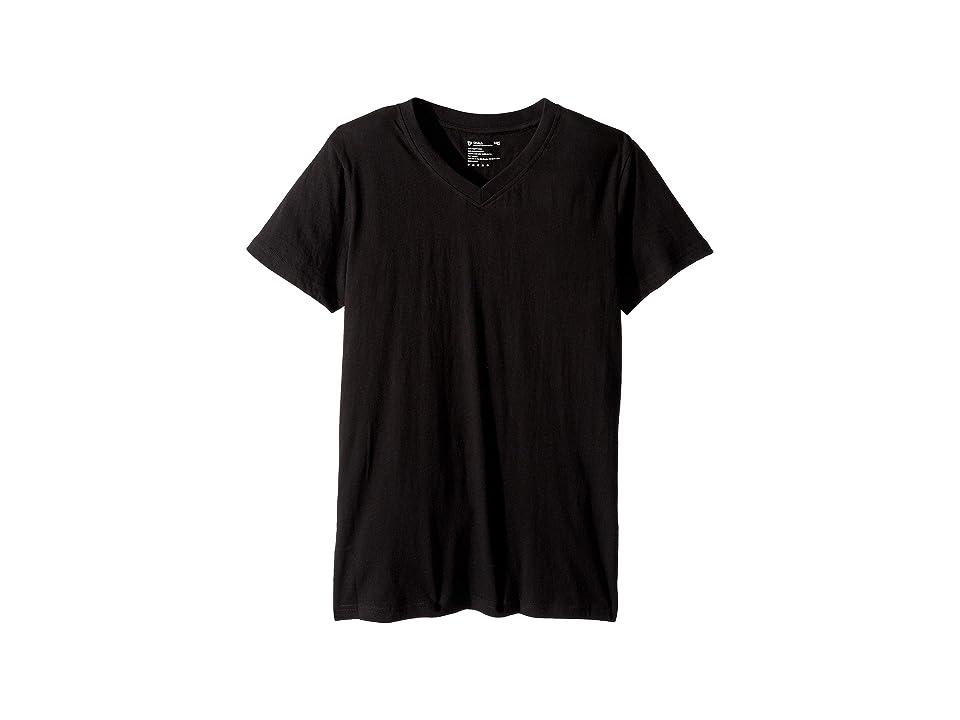 PACT V-Neck Undershirt 4-Pack (Black) Men