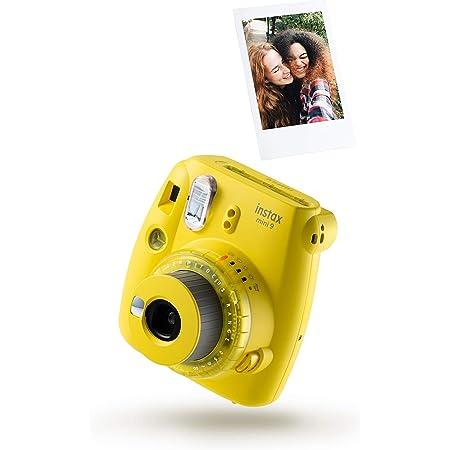 Fujifilm instax mini 9 - Cámara instantánea con películas, amarillo claro