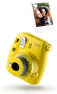 instax Mini 9 kamera, Kamera med 10 bilder, Clear Yellow