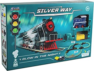 Silver Way Glow in the Night Train Playset, D-Power