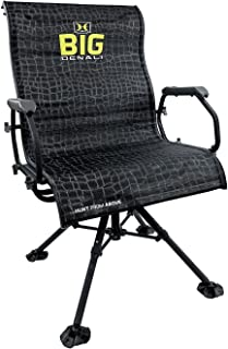 Hawk Big Denali Luxury Blind Chair - Extra Large, Silent, Comfortable, Swiveling, Portable Chair for Camping, Hunting, Fishing, Backpacking, and More