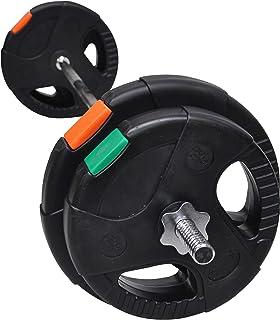 Barbell Bar with Weights 30Kg Set- 150cm Bar + 5Kg x 2 +7.5 kg x 2 Plates - Barbell Bar and Plates - Weight Training Exerc...