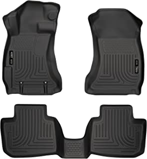 Husky Liners 99801 Black Weatherbeater Front & 2nd Seat Floor Liners Fits 2016-17 Crosstrek, 2012-16 Subaru Impreza