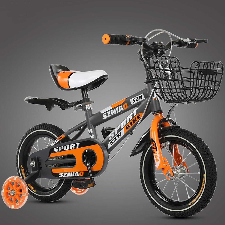 ganancia cero GAIXIA Bicicleta de Montaña Montaña Montaña para Niños 18 Pulgadas Bicicleta para Niños 6-9 Bastidor de Acero de Alto Cochebono para Cochecito de bebé Masculino y Femenino, Naranja Bicicleta para Niños  marca famosa