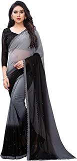 Blue Wish Women's Ethnic Wear Georgette Saree With Unstitched Blouse Piece