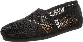 Women's Classic Slip-On Black Moroccan Crochet 5.5