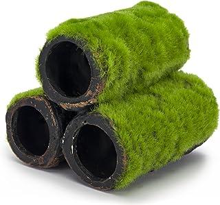 Penn Plax Tubos Ocultos para decoración de Acuario, Aspecto Realista con Textura de Musgo Verde