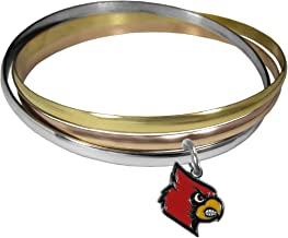 NCAA Louisville Cardinals Womens Tri-color Bangle Bracelet