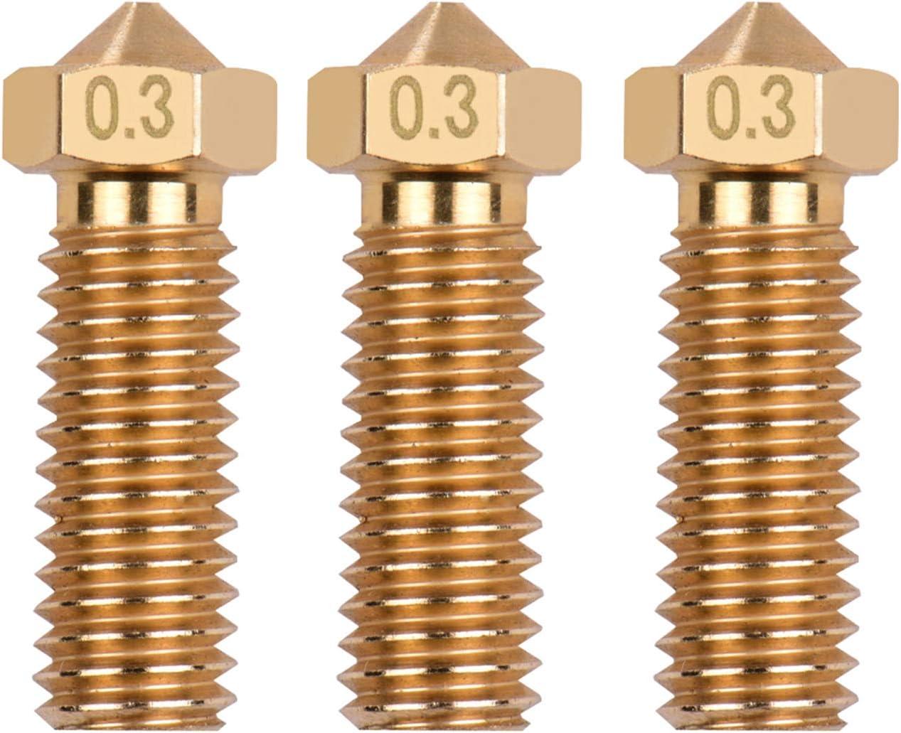 Entweg Extruder Nozzle 3pcs lowest price 3D Brass No Overseas parallel import regular item Printer Volcano