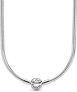 Pandora Jewelry - Moments Snake Chain Charm Necklace for Women in Sterling Silver