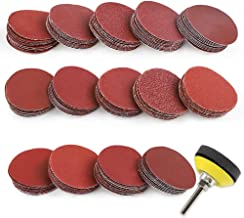 Coceca 140pcs 2 Inches Sanding Discs Pad Kit for Drill Grinder Rotary Tools with Backer Plate Shank and Soft Foam Buffering Pad,Sandpapers Includes 60-3000 Grit