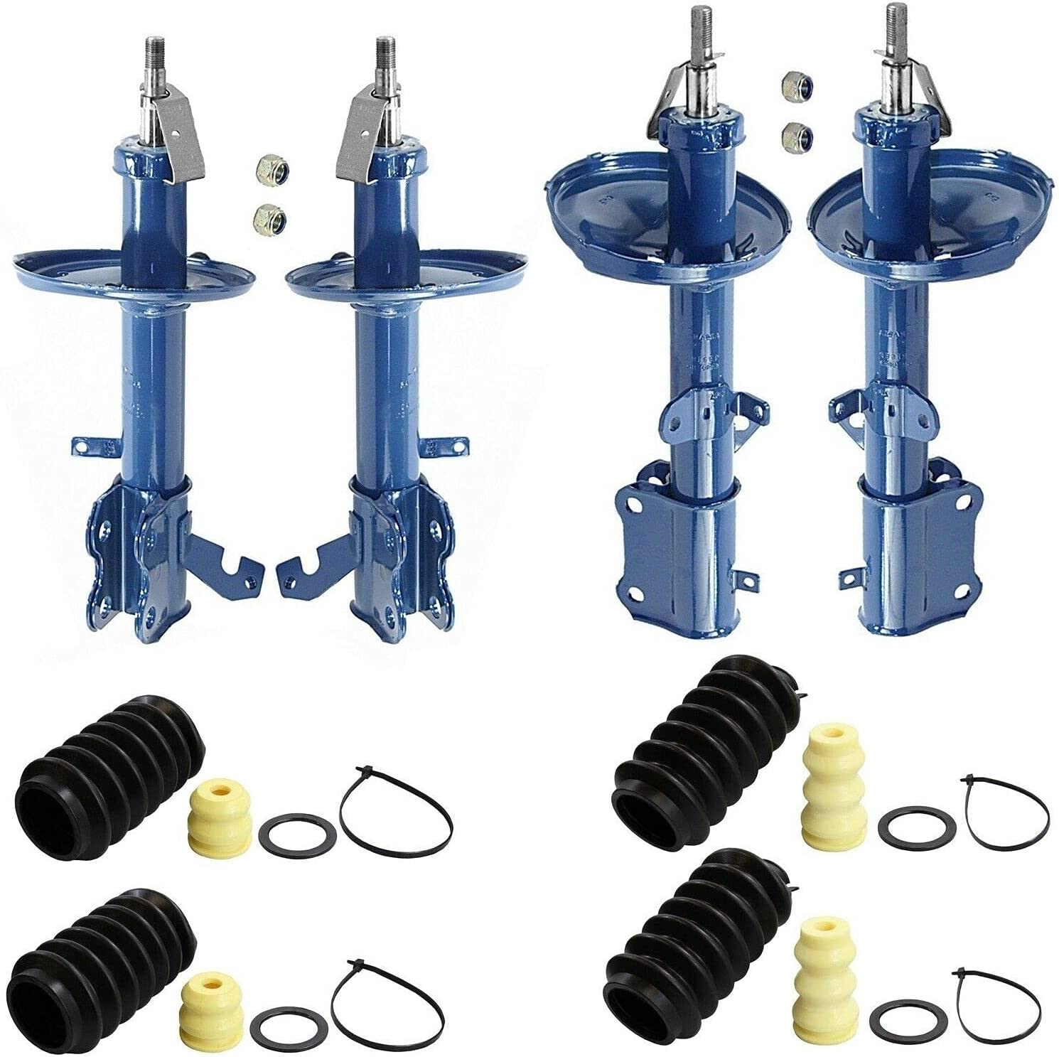 Front shopping and Rear Struts with Compatible Bellows Chevy kit Bargain Geo