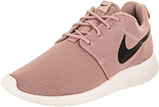 Womens Roshe One Fabric Low Top Lace Up Running Sneaker, Black, Size 8.0