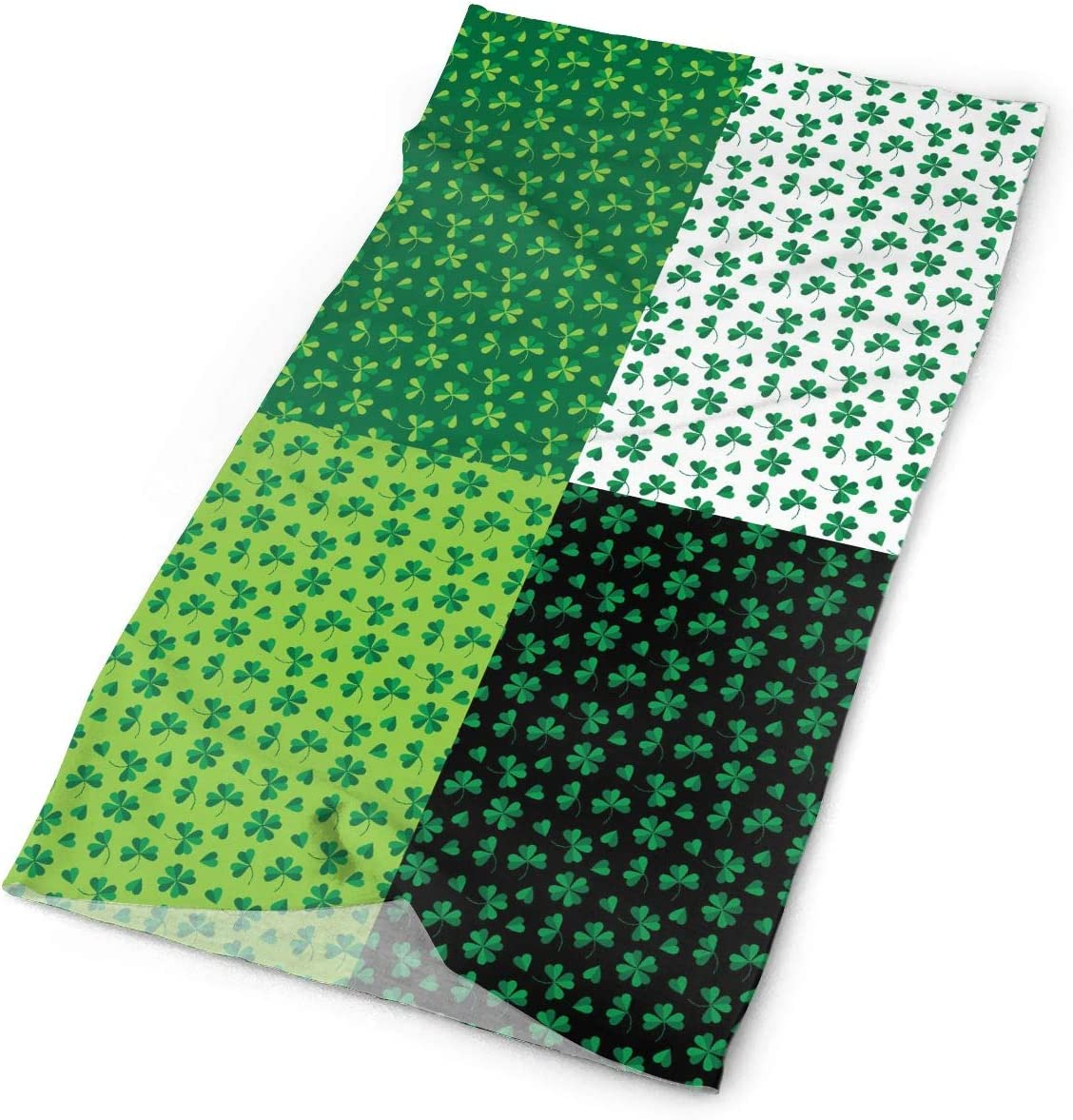 St. Patrick's Day Shamrock Unisex Fashion Quick-Drying Microfiber Headdress Outdoor Magic Scarf Neck Neck Scarf Hooded Scarf Super Soft Handle