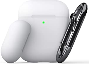 KeyBudz - PodSkinz Switch AirPods Case with Carabiner Compatible with Apple Airpods 1 & AirPods 2 - White